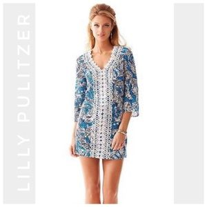 LILLY PULITZER Brooke tunic dress Ariel blue